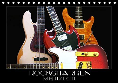 Rockgitarren im Blitzlicht (Tischkalender 2020 DIN A5 quer): Gitarrenschönheiten auf schwarzem Hintergrund eindrucksvoll in Szene gesetzt (Monatskalender, 14 Seiten ) (CALVENDO Kunst) (Fender Guitar Jaguar Bass)