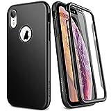 SURITCH Sruitch Compatible avec Coque iPhone XR Silicone 360 Degrés Protection Souple Integrale Antichoc Qui Protege Bien Avant et Arrière Etui Case Cover - Noir