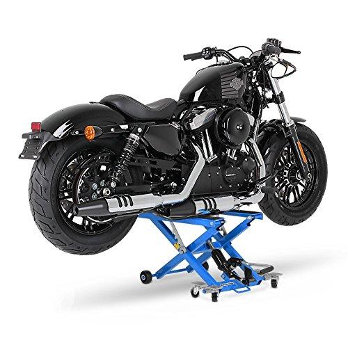 Elevador moto ConStands Mid-Lift azul por Yamaha XVS 650/1100 A Drag Star Classic , XVS 125/250/650/1100 Drag Star, XVZ 1300 A Royal Star, YBR 125/Custom