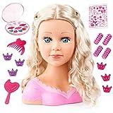 Bayer Design 90088AA Charlene Super Model Styling Head, Schminkkopf, Frisierkopf inklusiv Kosmetik und Zubehör