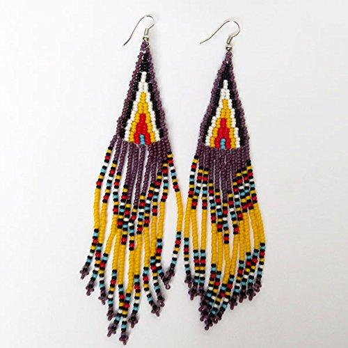 boucles-doreilles-long-chandelier-en-perles-sud-africain-zoulou-violet-jaune