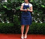 cozymom Jamie Oliver Style Art Schürze Chef Works handgefertigt Schürze japanischen Stil, Cross Back Form Denim Jean apron-blue Farbe