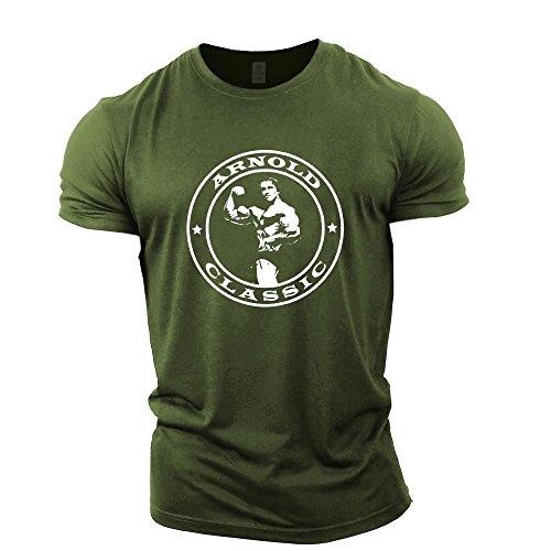 GYMTIER Bodybuilding-T-Shirt der Männer - Arnold Classic - Fitness-Trainingsoberteil