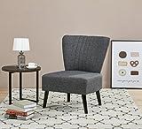ARTDECO Cocktailsessel Lounge Sessel Vintagesessel Dunkelgrau