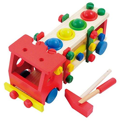 Hölzerne pädagogische Kinderdemontage / Montage Schrott Schraube Auto Fahrzeug Removable Multifunktionale Tinker Spielsets aus Holz Lernspielzeug