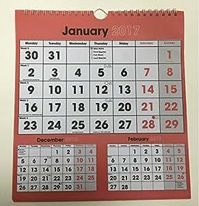 Calendrier/Planning 2016trois mois pour voir spirale