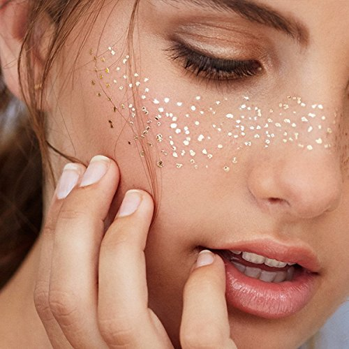 cker Metallic Shiny Temporary Tattoo für Glitzer Effekt, Parties, Shows und Make-up (F17) (Augen Make Up Temporäre Tattoos)