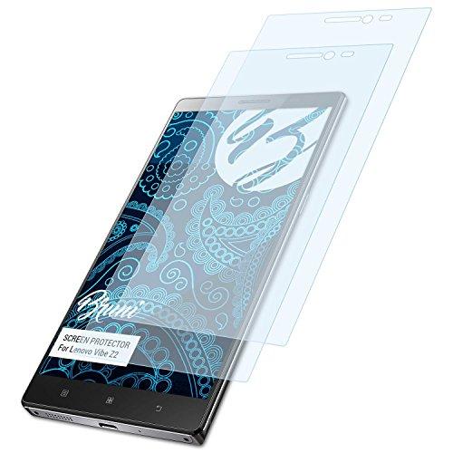 Lenovo Smartphone Z2 Vibe (Bruni Schutzfolie für Lenovo Vibe Z2 Folie - 2 x glasklare Displayschutzfolie)