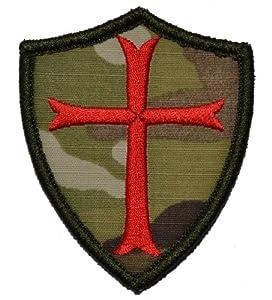 Chevaliers Templier croix 3x 2,5Shield/Moral Patch Patch Camouflage Militaire Avec Rouge