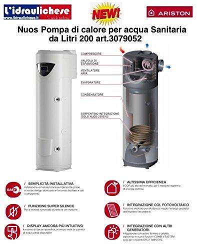 Preisvergleich Produktbild Ariston Nuos Plus - Wärme Pumpe wasserüberschuss Nuos plus-200 senkrecht Energie-Effizienzklasse E
