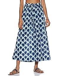 Amazon Brand - Myx Women's Cotton Palazzo Wide Leg Bottom
