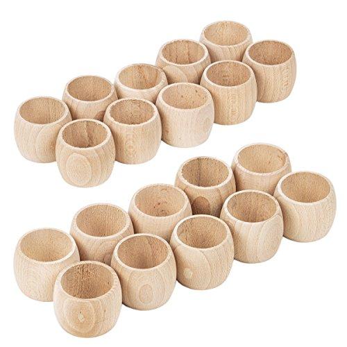 Serviettenringe aus Holz 20 Stück Servietten Ring Holz natur