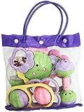 #9: A R Enterprises 6 Pcs Baby Bag Rattle set (Multicolor) Toy for kids