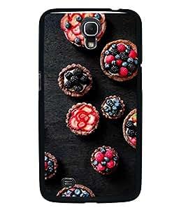 PrintVisa Designer Back Case Cover for Samsung Galaxy Mega 6.3 I9200 :: Samsung Galaxy Mega 6.3 Sgh-I527 (fresh new arrival unique fruits in black)
