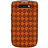 Amzer 89247 Luxe Argyle Coque en TPU pour Black Berry Torch 9800 Orange (Import Royaume Uni)