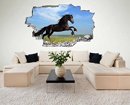 Pferd Horse 3D Look Wandtattoo 70 X 115 Cm Wanddurchbruch Wandbild Sticker  Aufkleber DesFoli © C472