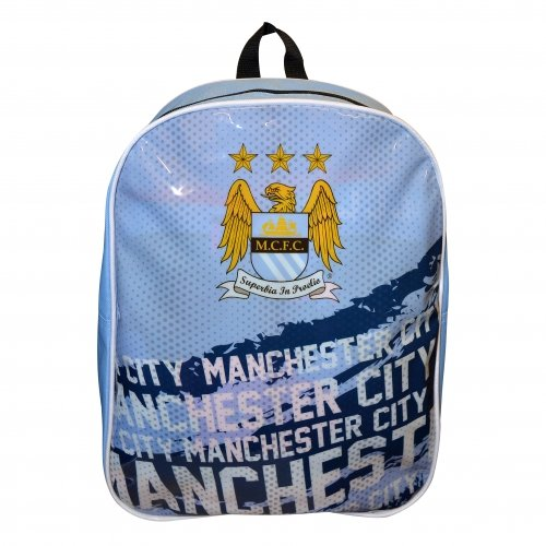 Preisvergleich Produktbild Manchester Man City FC Impact Football Backpack Rucksack Bag Blue Official