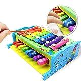 Aideal 2 in1 Xylophon mit Piano für Kinder Musikspielzeug Aktivität Geschenk für Kleinkind Kinder - ab 3 Jahren