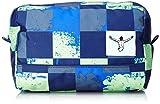 Chiemsee Unisex-Erwachsene Shower Bag Taschenorganizer, Grün (Swirl Checks), 14 x 18 x 26 cm