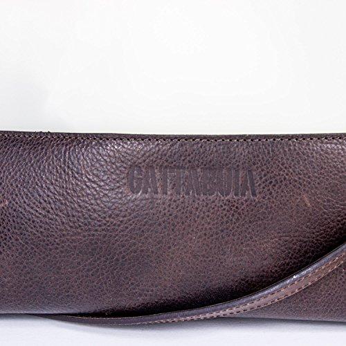 Gattabuia - borsa Federica in pelle e pvc Cacao-Ghiaccio-Lilla