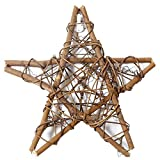 BIGBOBA Aritificial Rattan Ornamente Weihnachten Hochzeit Kranz Dekoration DIY Fünfzackigen Stern Wand Girlande Tür Hängende Decor 20CM