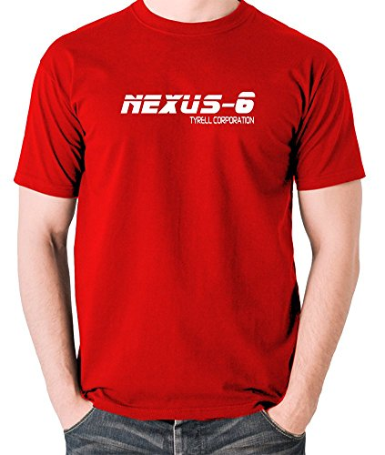 Blade Runner - NEXUS 6, Tyrell Corporation T Shirt Red Large