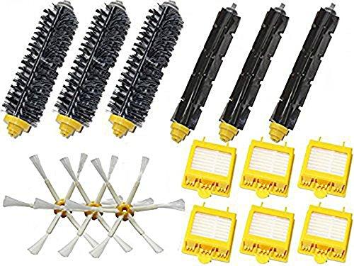 LETSDO Replenishment Mega Pack Kit für iRobot Roomba 760 770 780 790 Staubsaugerroboter Inklusive Hepa Filter & Bristle Brush & Flexible Beater Brush & 6-Armed (Zubehör Kit Devil Red)