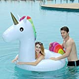AimdonR - Anillo de natación Hinchable de Unicornio con Caricatura de Unicornio, para Piscina, Piscina de PVC