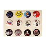 """Punk-Buttons"" NBC Nightmare before Christmas Anstecker Pin Badge Button Anstecker im Sparpack 12 Stück im Display (86004-033-000)"