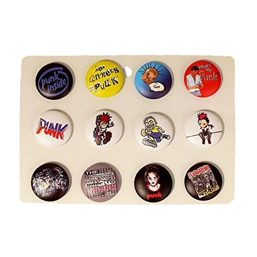 "MB-Müller ""Punk-Buttons"" NBC Nightmare Before Christmas Anstecker Pin Badge Button Anstecker im Sparpack 12 Stück im Display (86004-033-000)"