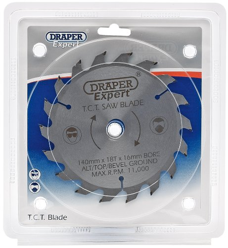 Draper 09525 Lame de scie circulaire TCT 140 x 16 mm x 18 tonnes (Import Grande Bretagne)