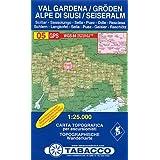 Gröden, Seiser Alm: Wanderkarte Tabacco 05. 1:25000 (Cartes Topograh)