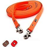 [Gesponsert]PetTec Schleppleine 10m aus Trioflex™, Orange, Wetterfest, Wasserabweisend, Robuste Hundeleine