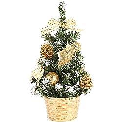 ShiyiUP Arbre de Noël Sapin de Noël Décoration de Bureau Maison Table