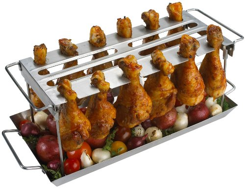 GRILLPRO 41552 Edelstahl Grill Wing Rack
