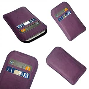 i-KitPit Quality PU Leather Pouch Case Cover For Micromax Bolt A34 (PURPLE)