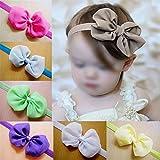#5: Rrimin 12pcs Baby Kids Girl Toddler Cute Chiffon Bowknot Headband HairBand Headwear