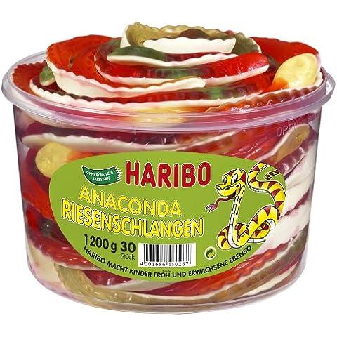 Haribo Riesenschlangen, Gominolas de Fruta, 30 Unidades, Tarro de 1200 g