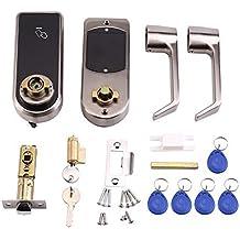 Cerradura de puerta Digital aleación Smart Keyless electrónico pantalla táctil Teclado código Tags botón mango de