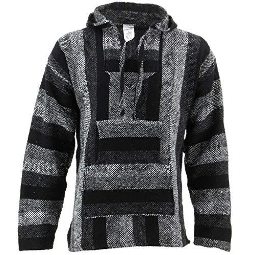 Chaqueta con capucha, tonos grises, hippie, parte superior gris gris XX-Large
