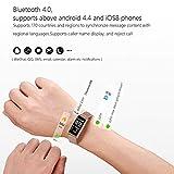 AGW Bracelet de sport imperméable avec bracelet en métal pour l'activité quotidienne et le suivi automatique du sommeil, comprenant également un podomètre, argent,Or