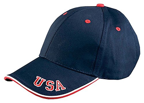 Adams 6-Panel Mid-Profile Cap With USA Embroidery Mid-profile-6-panel -
