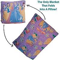 Dazoriginal cuscino coperta per bambini regalo Set - tappetino per bambini - viaggio coperta e cuscino - Childrens coperte attività Floormat 100% cotone - Princess