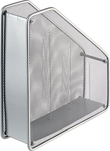 Helit h2518000-Portariviste a rete, formato A4, colore: argento