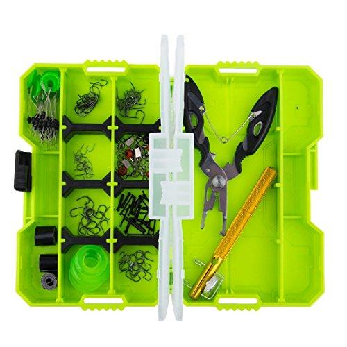 HONG-YANG JM-PJ5002 10 in 1 Fischerei Accessary Box Set Fachwerkhaken Geräte Multifunktionale Fischerei Zangen Tool Set Hardware Werkzeuge (Kostüme Aus Der Schachtel)