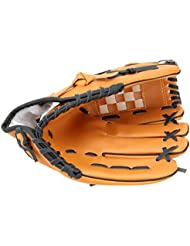 LEORX Gant de baseball 11.5-inch de Softball pour main gauche extérieur équipe Sport pour Femme (Jaune)