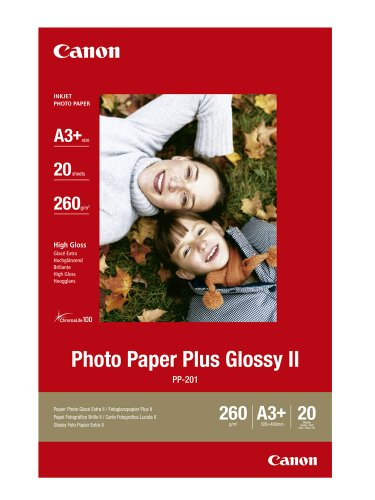 Canon Photo Paper Plus Glossy II PP-201 / 2311B021 / DIN A3+ / 260 g/m² - Plus Glossy Paper Photo Ii