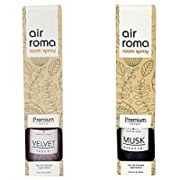 AirRoma Combo of Musk Fragrance Air Freshener Spray 200 ml & Velvet Fragrance Air Freshener Spray 200 ml