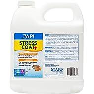 API STRESS COAT Aquarium Water Conditioner 1.9-Liter Bottle