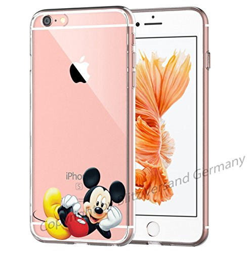 Blitz® MICKEY MOUSE Schutz Hülle Transparent TPU Cartoon Comic iPhone  M16 iPhone 6 6s M13